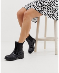 ASOS DESIGN Giddy Ed Rain Boots In Black
