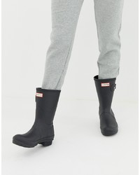 Hunter Original Short Wellington Boots In Black