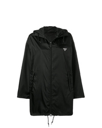 Prada Hooded Satin Shell Parka