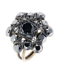 Ring black antique brass medium 4136686