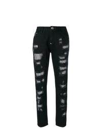 Philipp Plein Embellished Boyfriend Jeans