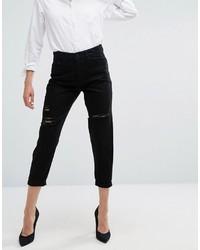 WÅVEN Waven Aki Boyfriend Jeans With Rips