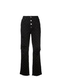 Amiri Polka Dot Ripped Jeans