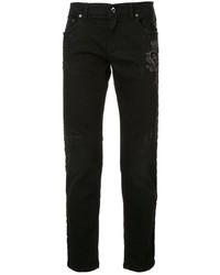 Dolce & Gabbana Distressed Logo Patch Jeans