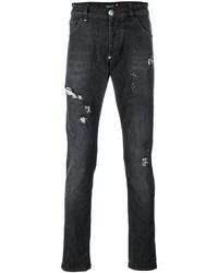 Distressed straight leg jeans medium 5054013