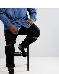 Jacamo Plus Skinny Jeans With Ripped Knee