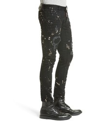 DSQUARED2 Tidy Biker Ripped Acid Wash Skinny Jeans | Where to buy ...