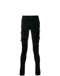 Amiri Distressed And Stud Detail Skinny Jeans