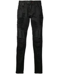Philipp Plein Distressed Biker Jeans