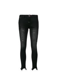 Philipp Plein Distressed Raw Edge Skinny Jeans