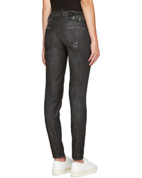 Dsquared2 Black Distressed Skinny Jeans