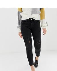 Miss Selfridge Petite Lizzie Skinny Jeans In Black