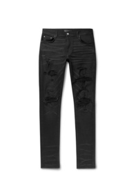 Amiri Skinny Fit Panelled Distressed Stretch Denim Jeans