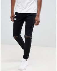 Ringspun Super Skinny Jeans With Ultra Rips