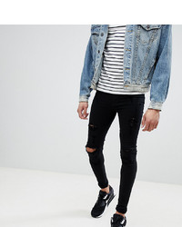 BLEND Tall Flurry Black Knee Rip Extreme Skinny Jeans