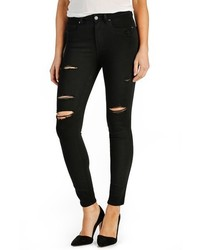 Paige Transcend Hoxton High Rise Destroyed Ankle Ultra Skinny Jeans