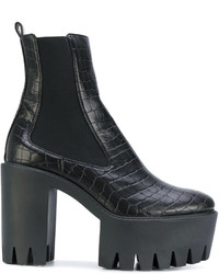 Stella McCartney Embossed Platform Ankle Boots