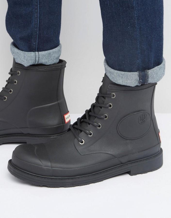 Men's Fashion › Footwear › Boots › Black Rubber Boots Hunter Original  Bullseye Derby Boots ...