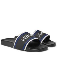 Versace Logo Embossed Rubber Slides