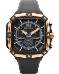 Brera Orologi Supersportivo Square Chronograph Rubber Strap Watch 44mm X 46mm