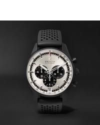 Zenith El Primero Chronomaster 1969 42mm Ceramicised Aluminium And Rubber Watch Ref No 24204140021r576