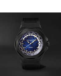 Girard Perregaux Laureato Absolute Wwtc Automatic 44mm Pvd Coated Titanium And Rubber Watch