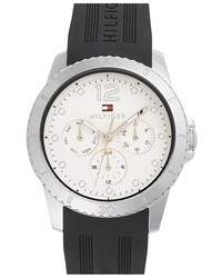 Tommy Hilfiger Multifunction Silicone Strap Watch 38mm
