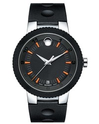 Movado Rubber Bezel Rubber Strap Watch 43mm