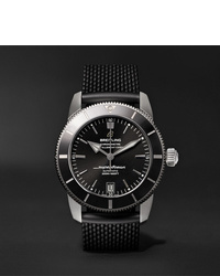 Breitling Superocean Hritage Ii B20 Automatic 42mm Stainless Steel And Rubber Watch Ref No Ab2010121b1s1