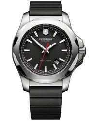 Victorinox Swiss Army Inox Rubber Strap Watch 43mm