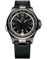 Victorinox Swiss Army Night Vision Rubber Strap Watch 42mm