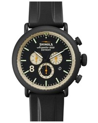 Shinola The Runwell Contrast Chrono Rubber Strap Watch 47mm