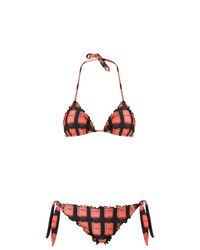 Ruffled triangle bikini set medium 7404081