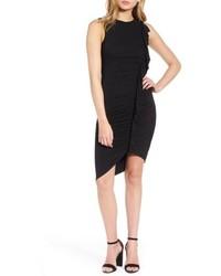 Black Ruffle Bodycon Dress