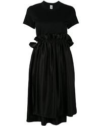 Black Ruffle Casual Dress