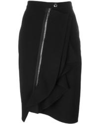 Givenchy Asymmetric Ruffle Trim Skirt