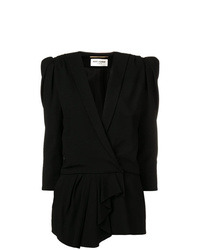 Saint Laurent Short Draped Playsuit