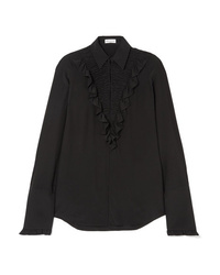 Sonia Rykiel Ruffled Silk De Chine Shirt