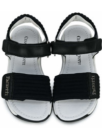 Cesare Paciotti Kids Ridged Velcro Sandals