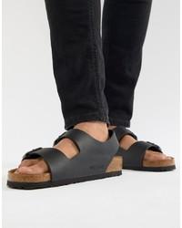 Birkenstock Milano Birko Flor Sandals In Black