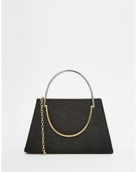 Ted Baker Satin Clutch Bag With Handle Detail