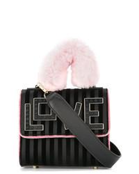 Black Satin Crossbody Bag
