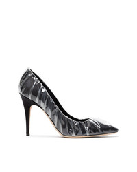 Off-White Co Jimmy Choo Black Anne 100 Pvc Wrapped Satin Pumps