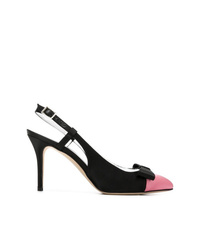 Alessandra Rich Ribbon Sling Back Pumps