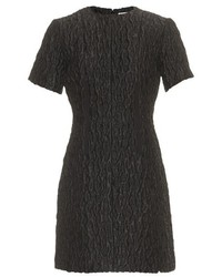 Carven Textured Satin Short Sleeved Dress