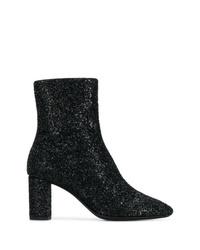 Saint Laurent Glitter Sprinkled Ankle Boots