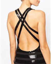 72821a73 City Goddess Sequin Stripe Mini Dress With Cross Back Straps, £26 ...