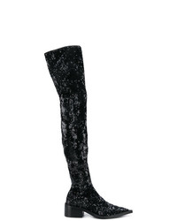 MM6 MAISON MARGIELA Sequin Over The Knee Boots