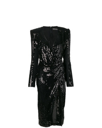 David Koma Sequin Fitted Dress