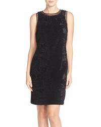 Julia Jordan Velvet Sequin Sheath Dress